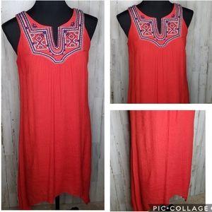 Luxology Dress Sleeveless Embroidered Summer